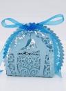 30pcs tagliato al Laser a mano scatole di caramelle con nastri scatole di favore di partito compleanno regalo dolce nozze bacio amante modello nozze accessorio