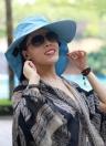 Новая мода нейлон Bluetooth ВС большой шляпу шляпы для женщина летом Bluetooth Музыка Hat беспроводной громкой смарт-крышка наушников гарнитуры спикер микрофон