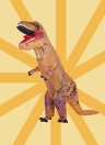 Funny Kids Inflatable Dinosaur Trex Costume Suit Air Fan Operated Blow Up Halloween Cosplay Fancy Dress Animal Costume Jumpsuit