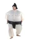 Linda Traje adulto inflable del traje de Sumo con accionamiento neumático Ventilador de lujo del partido de Halloween Cosplay del vestido de traje de gordo inflable del traje del luchador