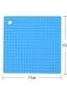 Multi-functional Silicone Heat Resistant Pad Non-slip  Kitchen Use Square Insulation Cushion  Anti Ironing Casserole Mat  Tray Pad  Orange