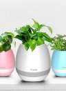 Tokqi Flowerpot Colorful LED Night Light Smart Touch Music Piano Plant Lâmpada recarregável Wireless BT Bluetooth Speaker Gift