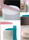Adjustable Cake Scraper Spatula Practical Fondant Cakes Edge Side Smoother Cream Decorating Tools for DIY Baking Mold