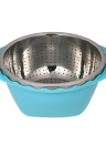 Multifunction Drain Basket Double Layer Fruit & Vegetable Washing Draining Basket Stainless Steel Strainer Basket Kitchen Colanders Vegetables Basin Fruit Basket Vegetables Basket