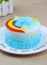 12CM Pane Squishy con arcobaleno Party Home Decor Ocean Cake Fascino carino Super Slow Rising Toy Toy Gift Fun Blue