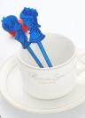 2 PCS Mariage Café Thé Cuillère à Mesurer Cadeau En Acier Inoxydable Couverts Lover Dîner Vaisselle Enfants Arc-En-Gâteau Dessert Glace Vaisselle Ustensiles de Cuiller Argent