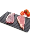 Fast Defrosting Tray Defrost Beef Meat Frozen Food Quickly Without Electricity Microwave Thaw Board Thawing Plate Unfreeze Boards (S)