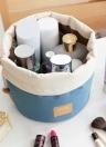 Portable Travel Barrel Tragetasche Große Kosmetiktaschen Make-up Kulturbeutel Aufbewahrungstasche mit Kordelzug Taschen Rosa