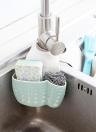 Kitchen Sink Faucet Hanging Bag Wheat Fiber Double-deck Drain Basket Storage Rack Supplies Tools of Kitchen