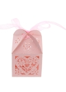 20 PCS Laser Cut Delicate Carved Heart and Flower Adorable Candy Boxes with Ribbon for Party Birthday Wedding Banquet Kindergarten Bridal Shower
