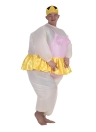 Vestito carino per adulti gonfiabile ballerina costume grasso per le donne / uomini Air Fan Colpo Operated Up Halloween Party Fancy tuta Outfit