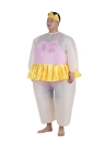 Cute Adult Inflatable Ballerina Costume Fat Suit for Women/Men Air Fan Operated Blow Up Halloween Party Fancy Jumpsuit Outfit