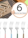 Anself High-end Flatware Fork Western Tableware for Children Kids Stainless Steel Good Quality Fruit Fork