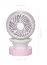 Mini USB Desk Fan Misting Fan 2-speed Fan with Mist Spraying Function Air Conditioning Moisturizing Fan Humidifier