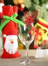 50шт Нежная Резные Рождество Cane вино стекла карточным столом карты для Рождество партии украшения свадебного банкета