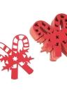 50pcs delicado cartão cinzelado da Copo de Vinho Cane Cartões de Natal da tabela para o partido do dia de Natal banquete do casamento Decoração
