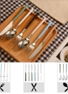 Anself High-end Flatware Spoon Western Tableware Stainless Steel Good Quality Soup Spoon