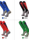 2 Pairs Men's Breathable Wicking Knee High Soccer Socks Sport Athletic Compression Football Socks for US 7.5-10.5 / UK 6.5-9.5 / EU 40-46 Black