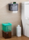 Plastic Wall Mounted Drawer Type Toilet Tissue Holder Bathroom Kitchen Tissue Paper Roll Cover with Sucker--Grey