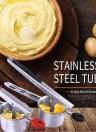 Silica Gel Anti-Skidding Hand Shank Stainless Steel Potato Ricer Multi-functional Potato Pressing Device Puree Tool