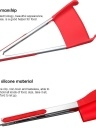 12inch Intelligent Multi-functional Kitchen 2-in-1 Spatula and Tongs Non Stick Heat Resistance Food Folder Red