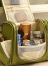 Pendurado portátil Organizador de Higiene Pessoal Saco Dobrável Grande Capacidade de Maquiagem Cosmética Caso Acessórios Do Banheiro de Viagem Vermelho