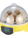 7 Eggs Mini Digital Egg Incubator Hatcher Transparent Eggs Hatching Machine Automatic Temperature Control for Chicken Duck Bird Eggs AC110V