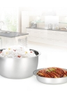 Multifunctional Mini Rice Cooker Electric Meal Box Thermal Insulation Lunch Box Electric Heating Lunch Box with Steamer