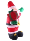 2.4m/95in Tall Inflatable Christmas Santa Claus X'mas Outdoor Decorations Ornaments AC100-240V EU plug