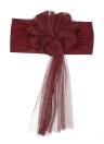 Il banchetto elastico della sedia del organza dello spandex di Sashes del fiore di cerimonia nuziale di 10pcs copre le decorazioni di banchetto di cerimonia nuziale - Bianco