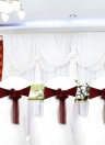 10pcs Wedding Flower Chair Sashes Elastic Spandex Organza Chair Sash Covers Wedding Banquet Supplies Decorações - Branco