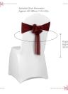10pcs Wedding Flower Chair Sashes Elastic Spandex Organza Chair Sash Covers Wedding Banquet Supplies Decorations--White