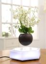 Magnétique Suspension Lévitation Air Bonsaï Pot LED Flottant Pot Pot Lévitation Rotating pour Home Office Décoration UE Plug