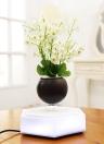 Magnetic Suspension Levitating Air Bonsai Pot LED Floating Plant Pot Levitation Rotating for Home Office Decoration EU Plug