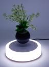 Levitazione Rotante Magnetico Galleggiante Sospensione Fiore Aria Bonsai Pentola Levitante LED Galleggiante Pot Bonsai Spina UE per Home Office Decorazione