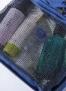 Borsa da toilette impermeabile portatile poliestere pieghevole da viaggio cosmetico trucco dell'organizzatore di lavaggio da barba cerniera borsa a sospensione accessorie forniture organizzatore (nero)