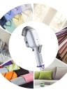 650W Portable Handheld Electric Cloth Steamer Fast Heat-up Garment Fabric Steamer Iron with Detachable Brush for Home Travel AC220V EU Plug