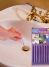 12pcs/Set Pipeline Bathtub Cleaner Decontamination Rod Sani Rods Sewer Toilet Cleaning Stick Deodorizer Odor Free Keep Drain Pipes Purple