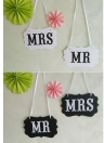 5-pack Creativity MR & MRS Wedding Garlands for Wedding Party Garland Banner Photo Booth Photography Props Prom Party Supplies