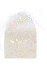 20 láser PC delicado tallado elegante caramelo jardineras con cinta para fiesta cumpleaños boda banquetes jardín despedida de soltera