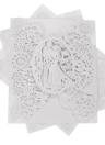 20pcs romántica boda de la invitación del partido Tarjetas delicado patrón de decoración tallada de banquetes