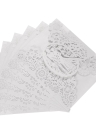 20pcs Romantic Wedding Party Invitation Cards Delicate Carved Pattern Banquet Decoration