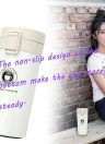 New Stylish Vacuum Cup Travel Gift Coffee Cup Bounce Lid Stainless Steel Vacuum Bottle