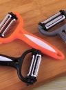 Multi-functional Kitchen Accessories Tools Plastic Three-in-one Peeling Knife Stainless Steel Potato Apple Peeler