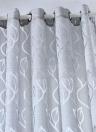 39 * 98 pouces Polyester Semi-Blackout Rideau de fenêtre supérieur
