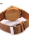 Redear Natural Saudável Bambu Relógio de pulso diário Water Resistant Simplicidade na moda Man relógio para aniversário de casamento