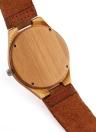 Redear natural saludable bambú Reloj Resistente de agua diario La simplicidad de moda del reloj de los hombres de aniversario de boda