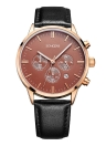 SONGDU Fashion Luxury Luminous Genuine Leather  Water-Resistant Men  Watch