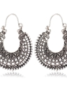 Euramerican Antique Silver Vintage Bohemian Ethnic Flavor Earrings