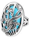 Anel de pedra grande oval retro de moda nova
